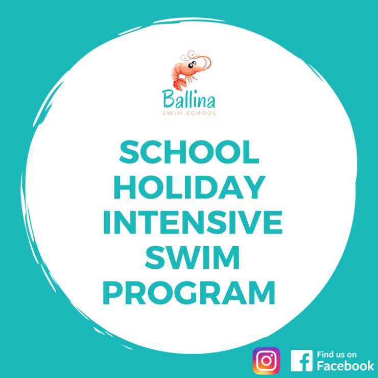 Ballina swim school intensive holiday program with friendly prawn
